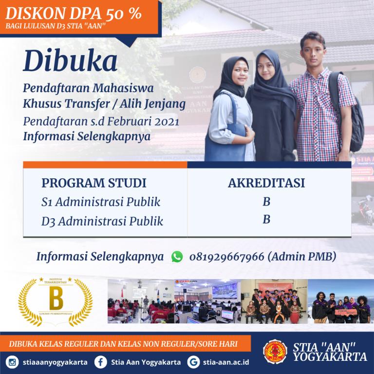 Pendaftaran Mahasiswa Transfer