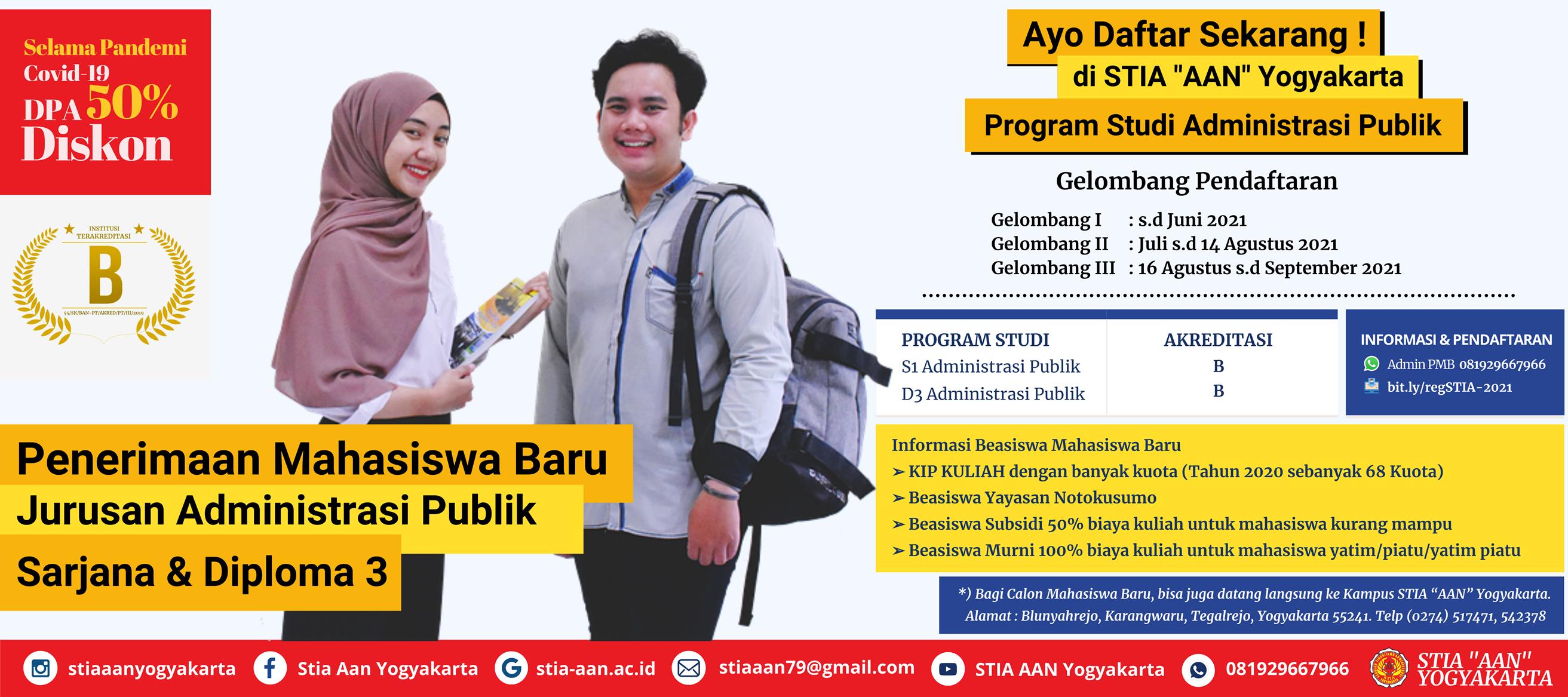 Pendaftaran Mahasiswa Baru (PMB) TA 2021/2022